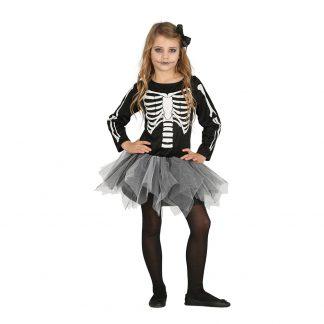 Skelett Barn Maskeraddräkt - Small