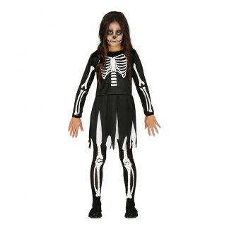 Skelett Barn Maskeraddräkt - X-Large
