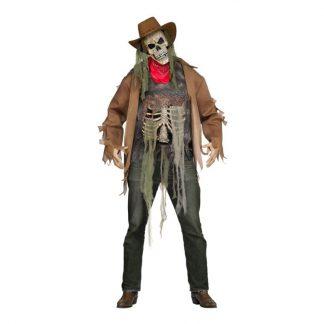 Skelett Cowboy Maskeraddräkt - One size