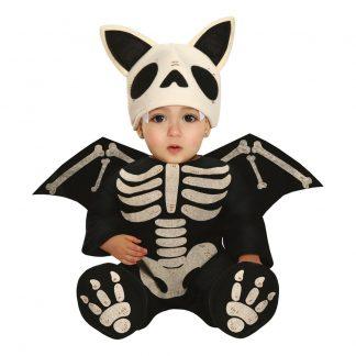 Skelett Fladdermus Bebis Maskeraddräkt - 12-18 månader