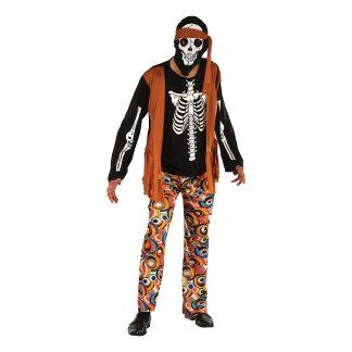 Skelett Hippie Maskeraddräkt - One size