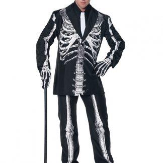 Skelett Kostym Maskeraddräkt