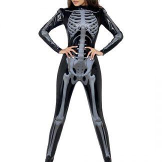 Skelett Maskeraddräkt Dam Xsmall