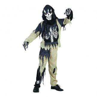 Skelett Zombie Barn Budget Maskeraddräkt - Medium