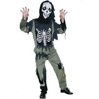 Skelett Zombie Barn Maskeraddräkt (Small (3-4 år))