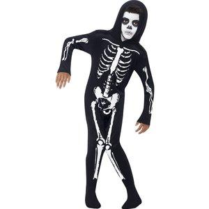 Skelett barn maskeraddräkt
