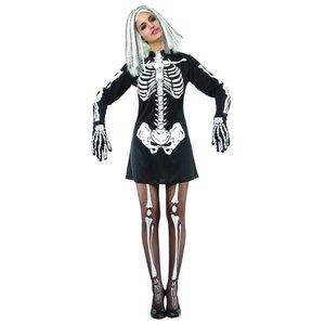 Skelett-klänning maskeraddräkt