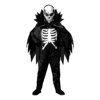 Skelett med Cape Barn Maskeraddräkt - Large