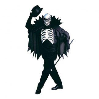 Skelett med Cape Maskeraddräkt - Medium