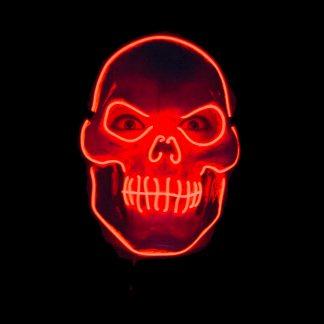 Skelettmask LED - One size