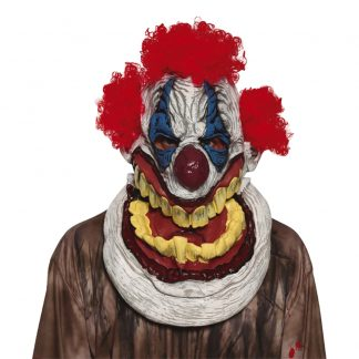 Skrattande Clown Latexmask - One size