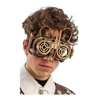 Steampunk Ögonmask Guld - One size