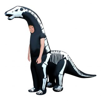 Uppblåsbar Diplodocus Skelett Barn Maskeraddräkt - One size