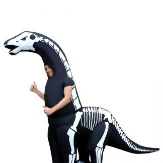 Uppblåsbar Diplodocus Skelett Maskeraddräkt