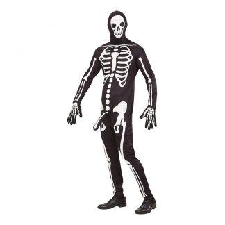 Välhängt Skelett Maskeraddräkt - Large