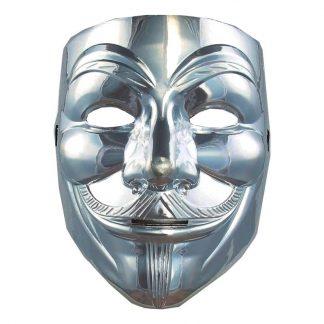 V For Vendetta Silver Mask - One size