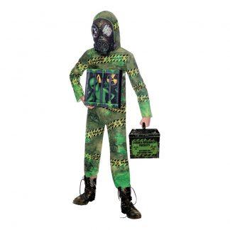 Zombie Alien Karantän Barn Maskeraddräkt - Medium