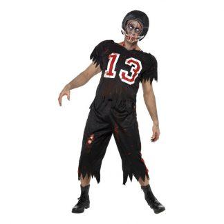 Zombie Amerikansk Fotbollsspelare Maskeraddräkt - Large