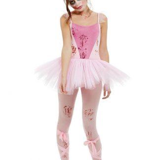 Zombie Ballerina Maskeraddräkt (X-Small (str. 32-34))