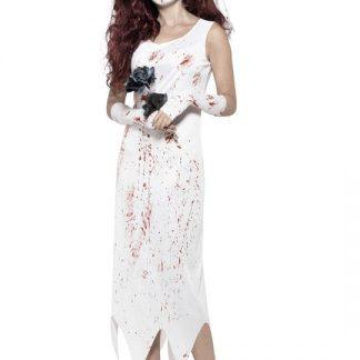 Zombie Brudklänning Maskeraddräkt Small