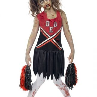 Zombie Cheerleader Maskeraddräkt Barn Large