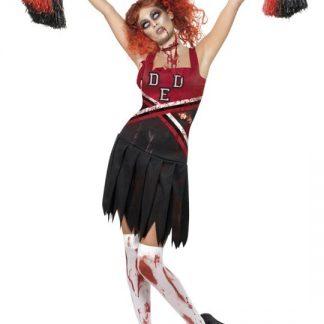 Zombie Cheerleader Maskeraddräkt Large