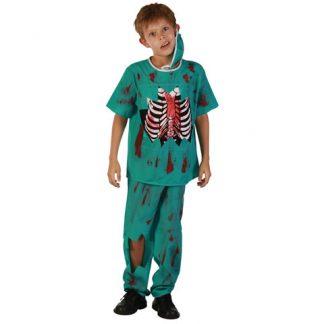 Zombie Doktor Barn Maskeraddräkt