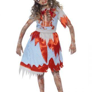 Zombie Dorothy Maskeraddräkt Barn Medium