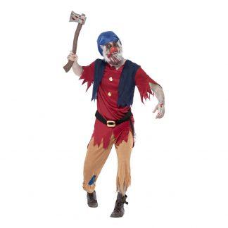 Zombie Dvärg Maskeraddräkt - Large