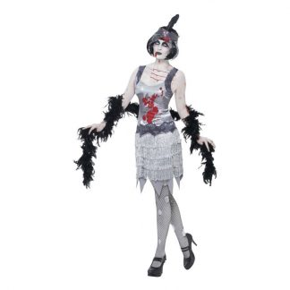 Zombie Flapper Maskeraddräkt - Medium