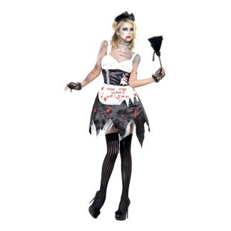 Zombie French Maid Maskeraddräkt - Medium