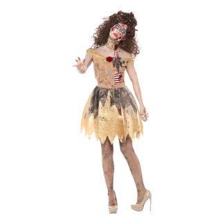 Zombie Golden Fairytale Maskeraddräkt - Small