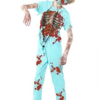 Zombie Kirurg Maskeraddräkt Barn Medium