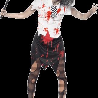 Zombie Kvinnlig Polis Maskeraddräkt