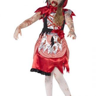 Zombie Miss Hood Maskeraddräkt Barn Large