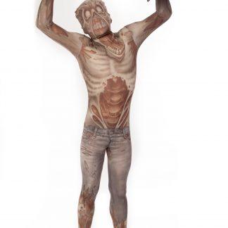 Zombie Morphsuit Maskeraddräkt Barn, MEDIUM