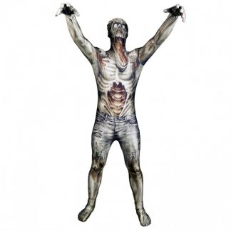 Zombie Morphsuit Maskeraddräkt, MEDIUM