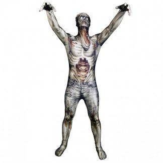 Zombie Morphsuit Maskeraddräkt, XL