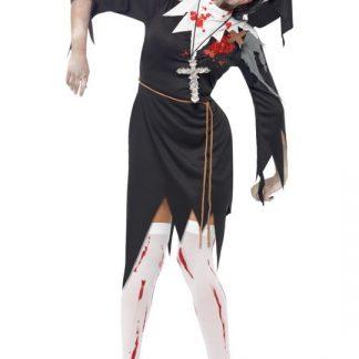 Zombie Nunna Maskeraddräkt Medium