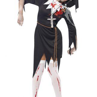 Zombie Nunna Maskeraddräkt (Small)