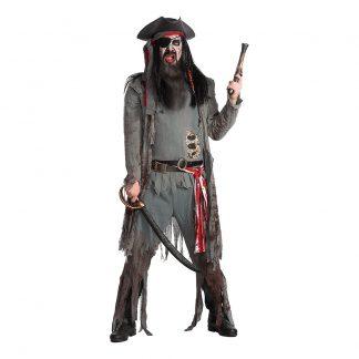 Zombie Pirat Deluxe Maskeraddräkt - X-Large