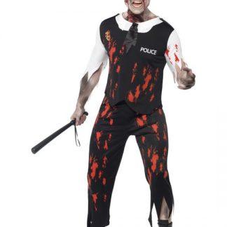 Zombie Polisman Maskeraddräkt Large