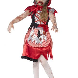 Zombie Rödluvan Dräkt Barn (Small (4-6 år))