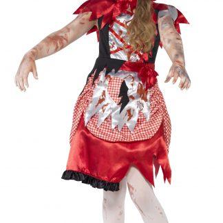 Zombie Rödluvan Maskeraddräkt Barn, LARGE