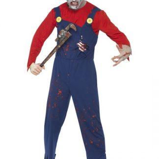 Zombie Rörmockare Maskeraddräkt Herr Medium