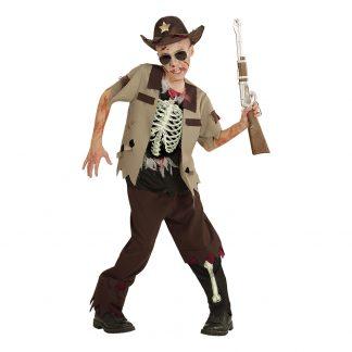 Zombie Sheriff Barn Maskeraddräkt - Small