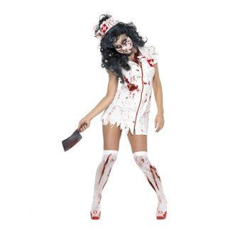 Zombie Sjuksköterska Maskeraddräkt - X-Small