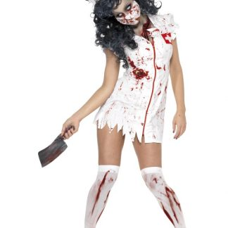 Zombie Sjuksköterska Maskeraddräkt (X-Small (str. 32-34))