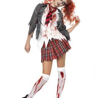 Zombie Skolflicka Maskeraddräkt Xsmall
