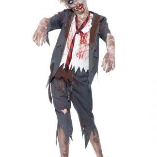 Zombie Skolpojke Maskeraddräkt Barn Large